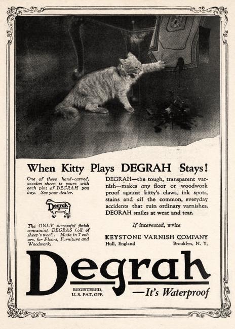 Degrah Varnish, 1922