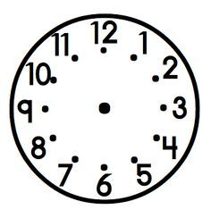 best photos of cute time clock template printable clock face