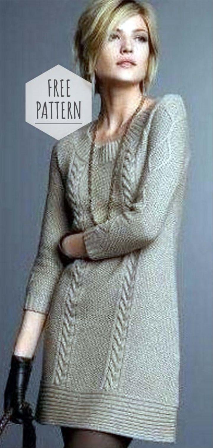 Knitted Tunic Dress Free Pattern Hand Knitted Dress Sweater Dress Pattern Knitting Patterns Free Sweater [ 1510 x 720 Pixel ]