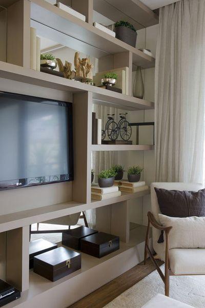estanteparasaladetv1  Casa e Decoração  Pinterest  Living  ~ Rack Pra Sala De Tv