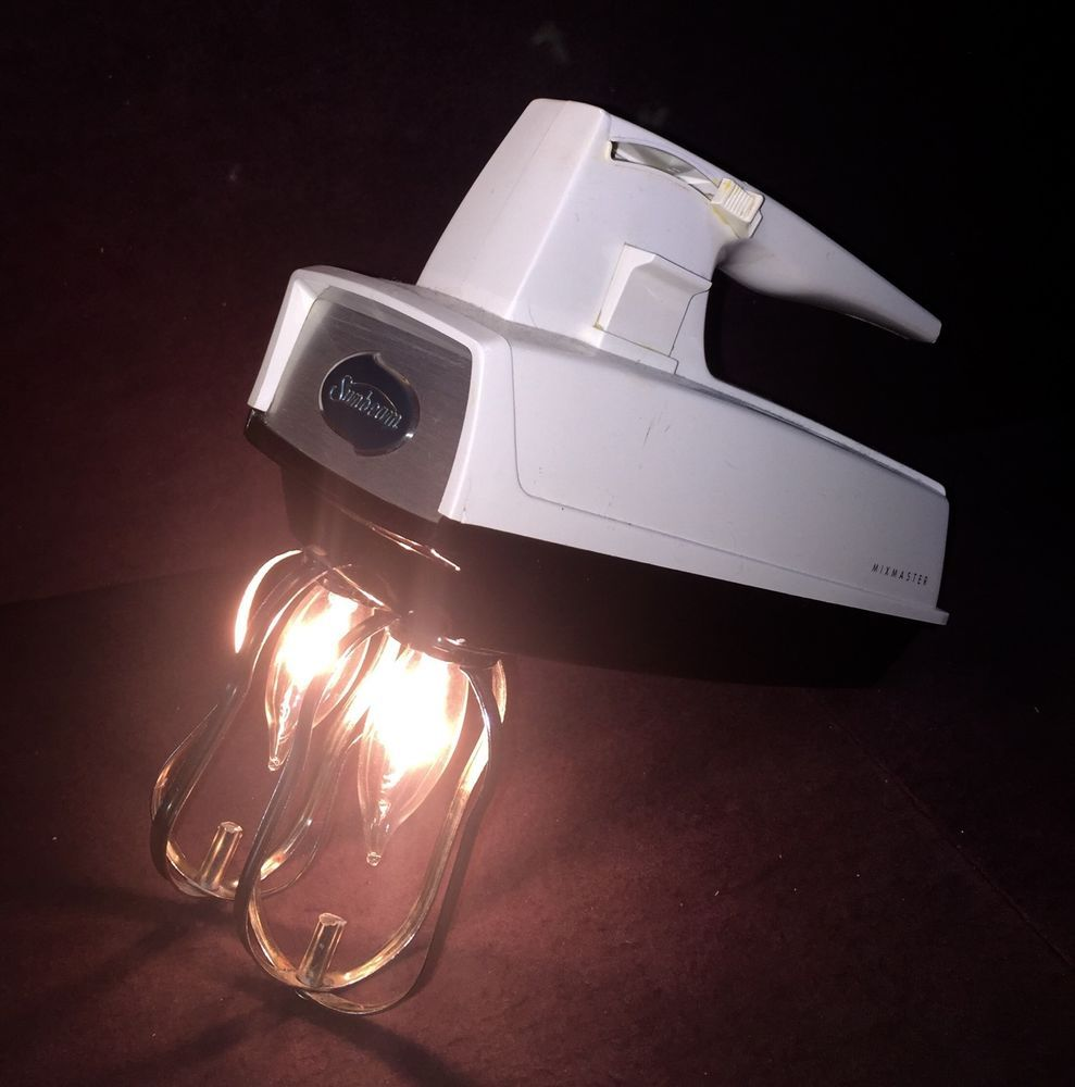 Vintage Upcycled Hand Mixer Lamp Sunbeam Mixmaster | eBay