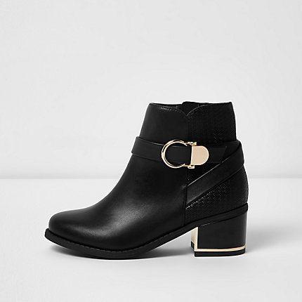 circle buckle block heel boots £28.00