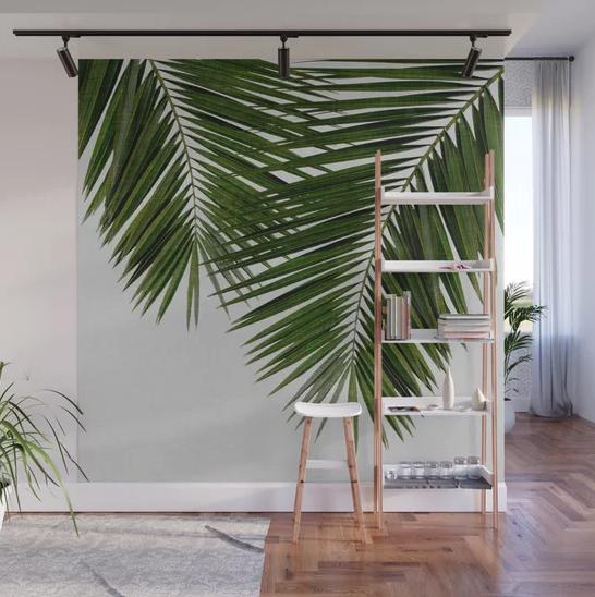 """Palm Leaf II"" Wall Mural by Orara Studio on Society6 | Society6 thumbnail"