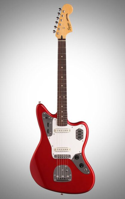 Squier Vintage Modified Jaguar Electric Guitar Candy Apple Red Experience The Vintage Style And Playability Of A 60s Jaguar This Squier Jag Features Du Guitar