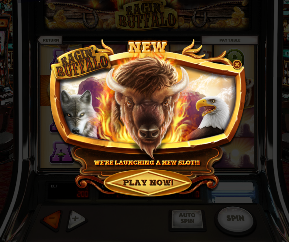 Ragin Buffalo Is Here With All Its Fury In Our Slots To Give You Thousands Of Prizes Our Slots Bit Ly Play Ou Play Slots Pinball Machine Gaming Products