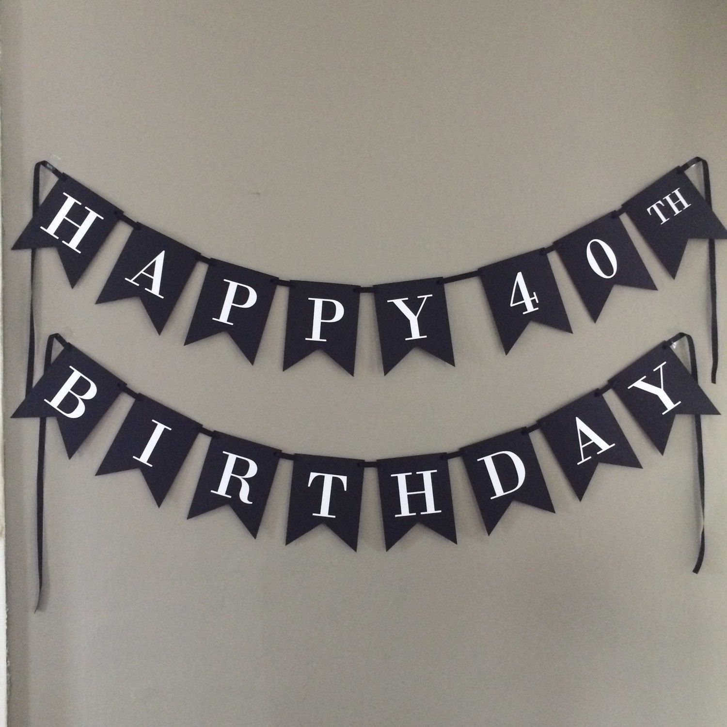 40th birthday banner black and white birthday by for 40th birthday decoration