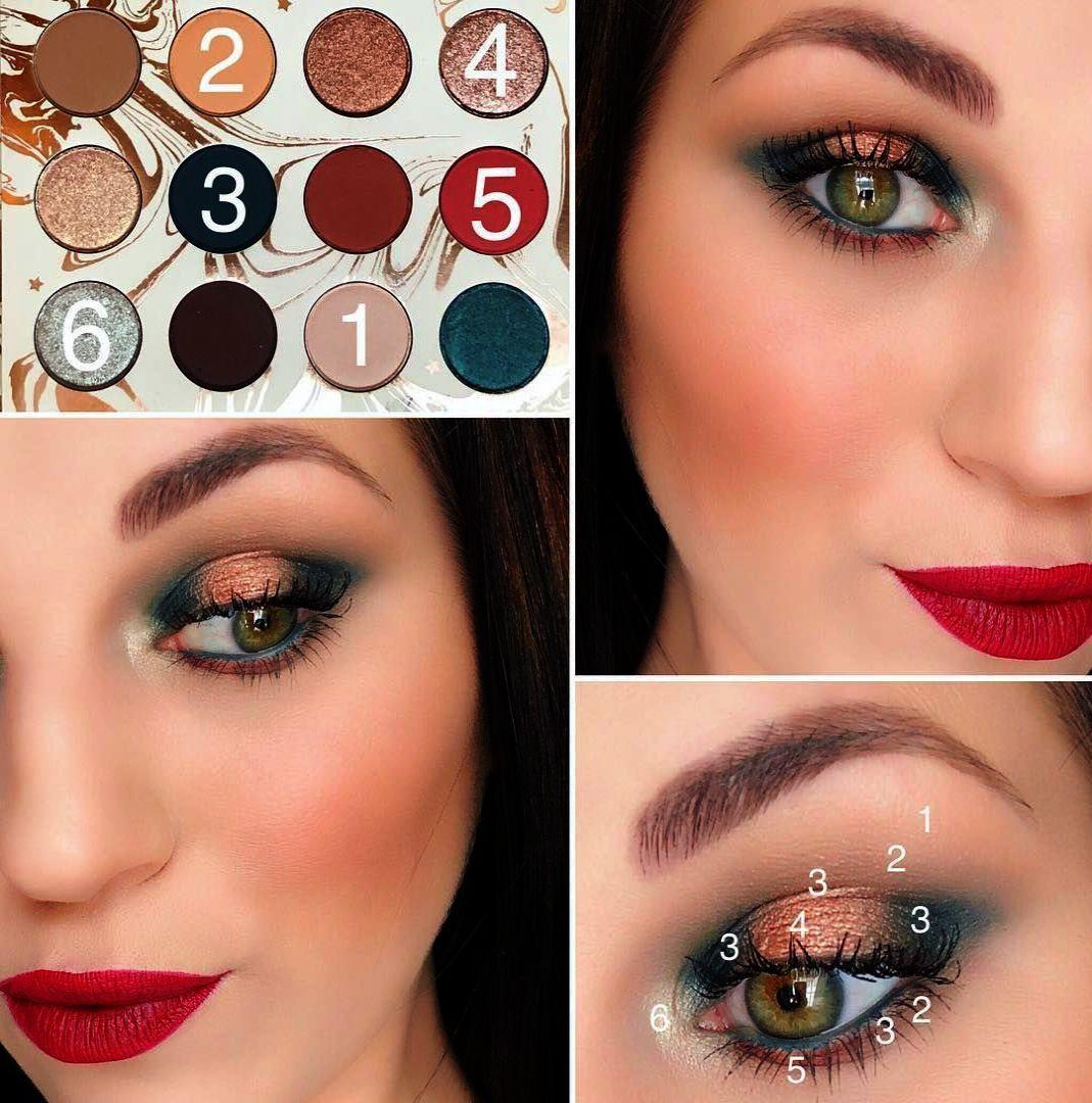 DE'LANCI Pressed Glitter Eyeshadow Palette Professional