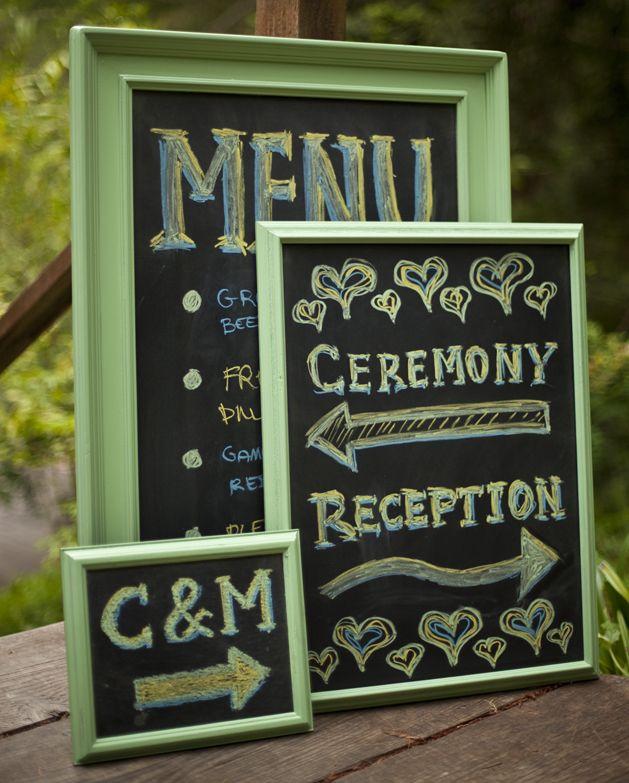 How-To: Chic Wedding Chalkboards | Pizarra, Casamiento y Boda