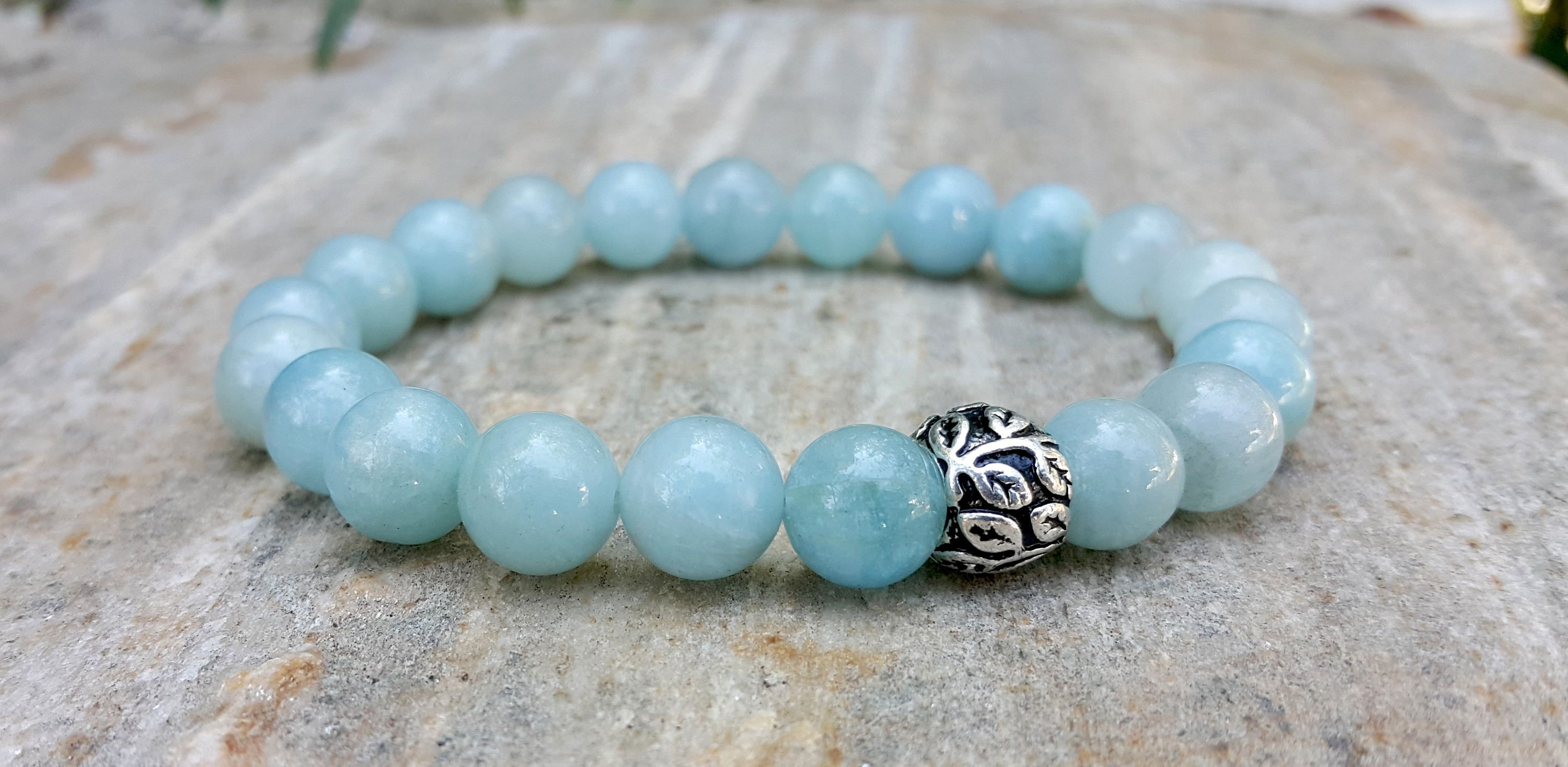products curated angeles los stone bracelet multi aquamarine chain