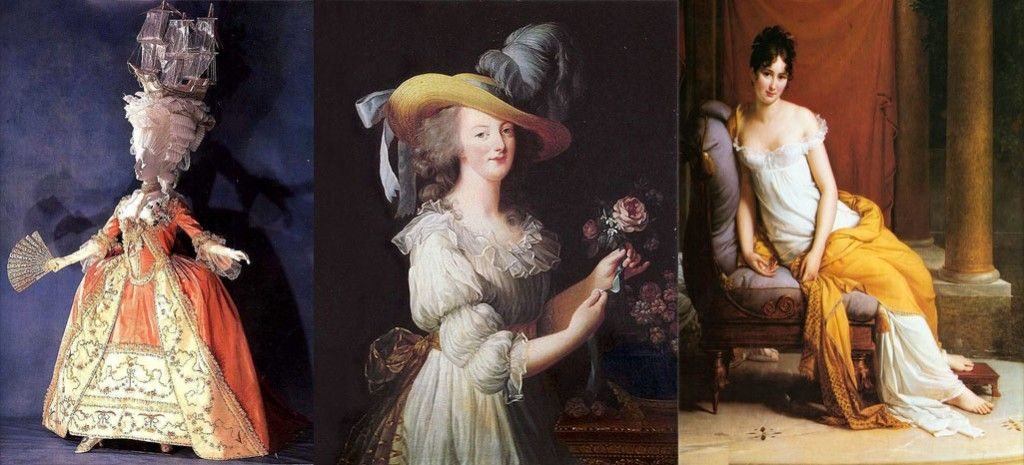 Evoluzione moda XVIII XIX