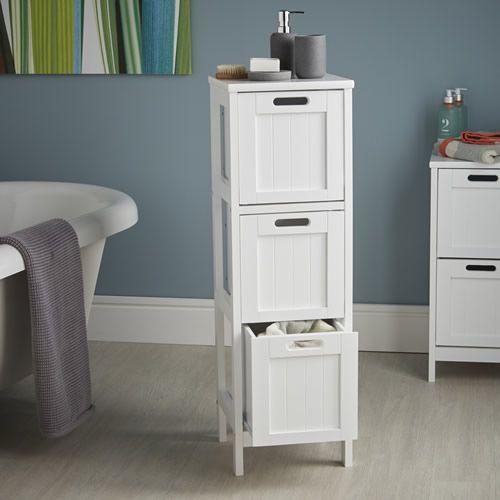shakerstyle3drawerstorageunit - Bathroom Storage