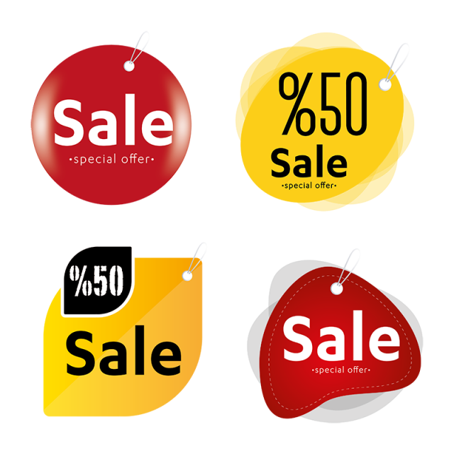 Vector Sales Label Set, Sales Icons, Label Icons, Label