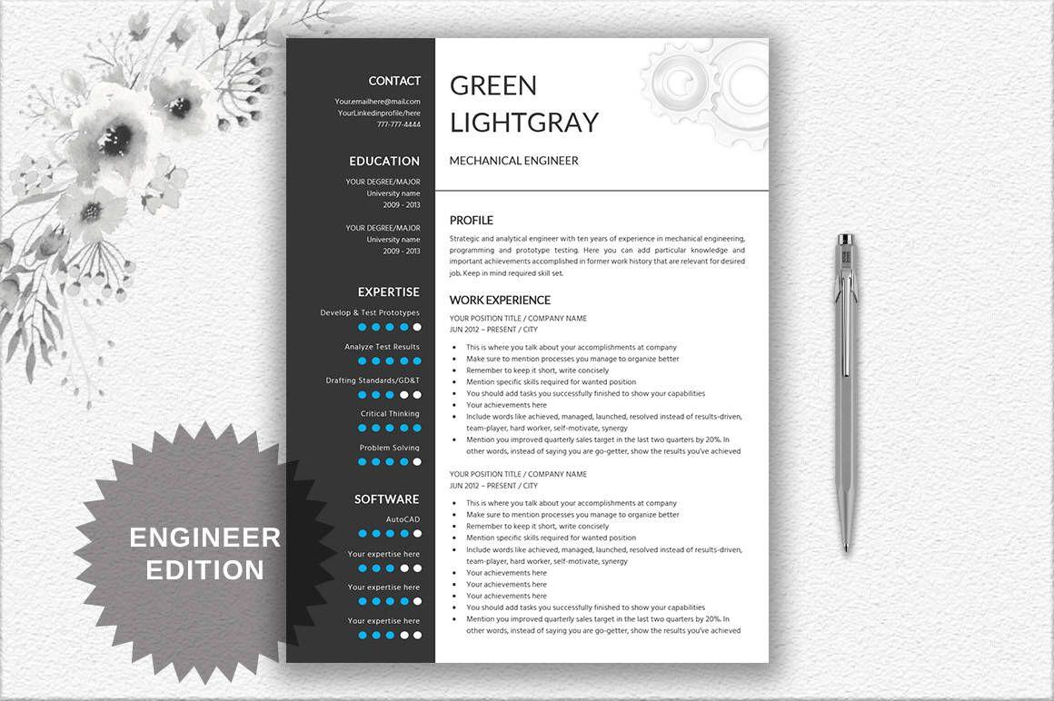 engineer resume printable template editable in word