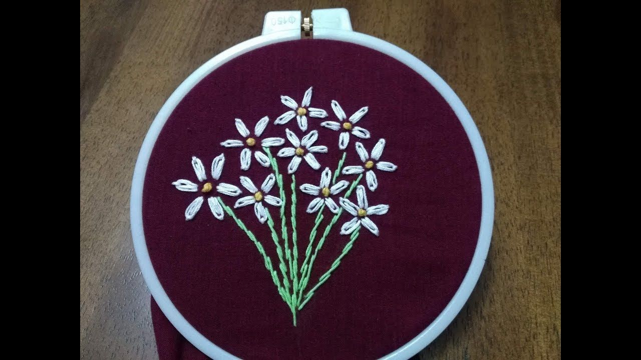 Diy embroidery designs embroidery flower bouquet tutorial
