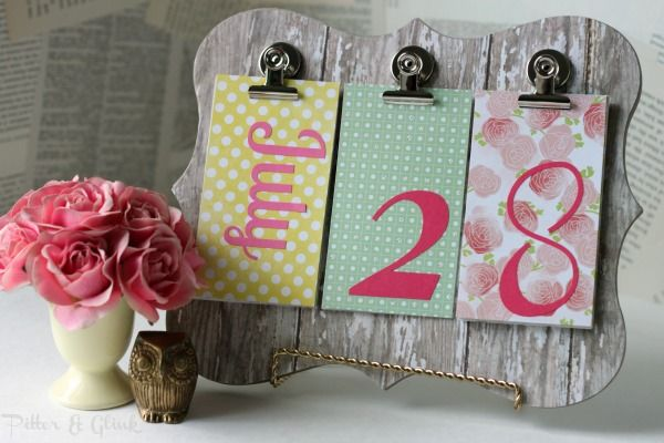 PitterAndGlink {Back to School Week DIY Perpetual Calendar - how to make a perpetual calendar