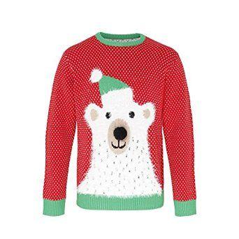 Christmas Shop Adults Unisex Polar Bear 3D Nose Christmas Sweater/Sweatshirt