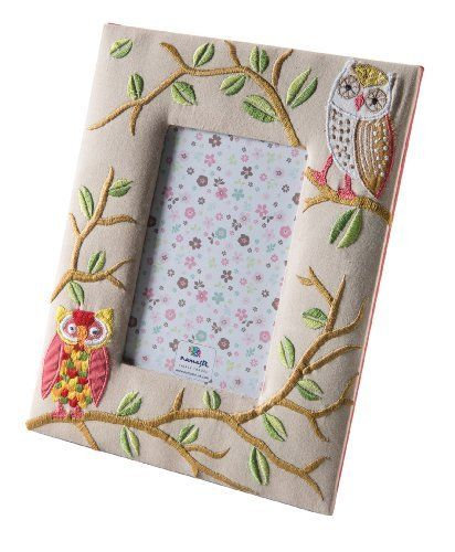 Owl Embroidered Photo Frame fits 4'' x 6'' photos. Intricate owl in a tree embroidery around the frame. Also available in the owl range is a matching cusion cover, jewellery box and note book. Hand made by skilled embroiderers near Delhi. £15.47 http://www.amazon.co.uk/dp/B00ITW061E/ref=cm_sw_r_pi_dp_Zayptb1P96P6G