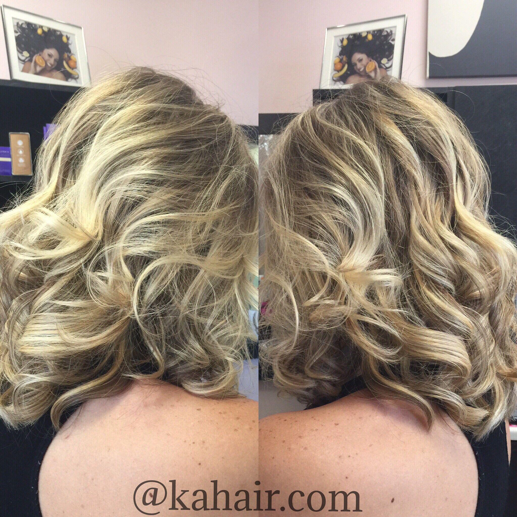 Balayge long bob beach wave style by kahair blonde hair by karla