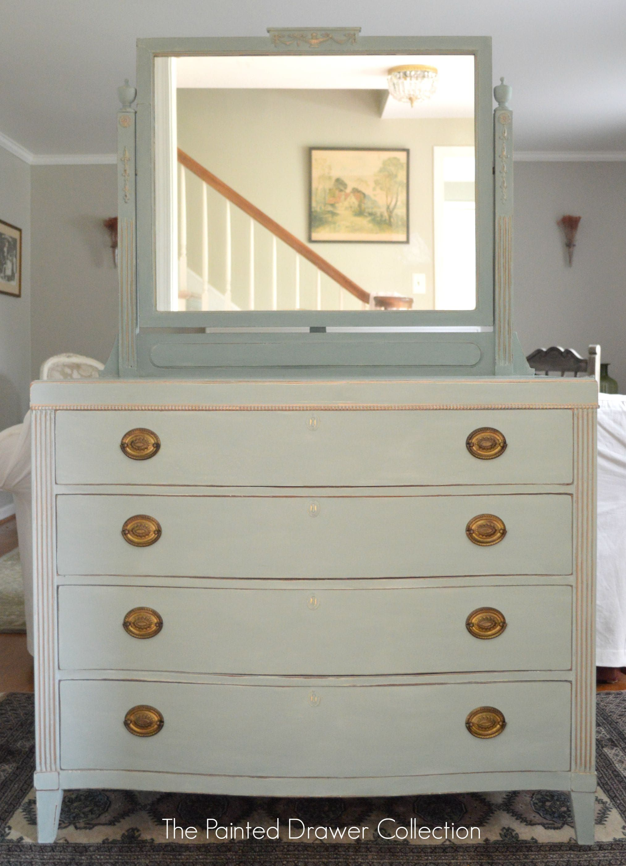 Antique Dresser In Duck Egg Blue Wwwthepainteddrawercom