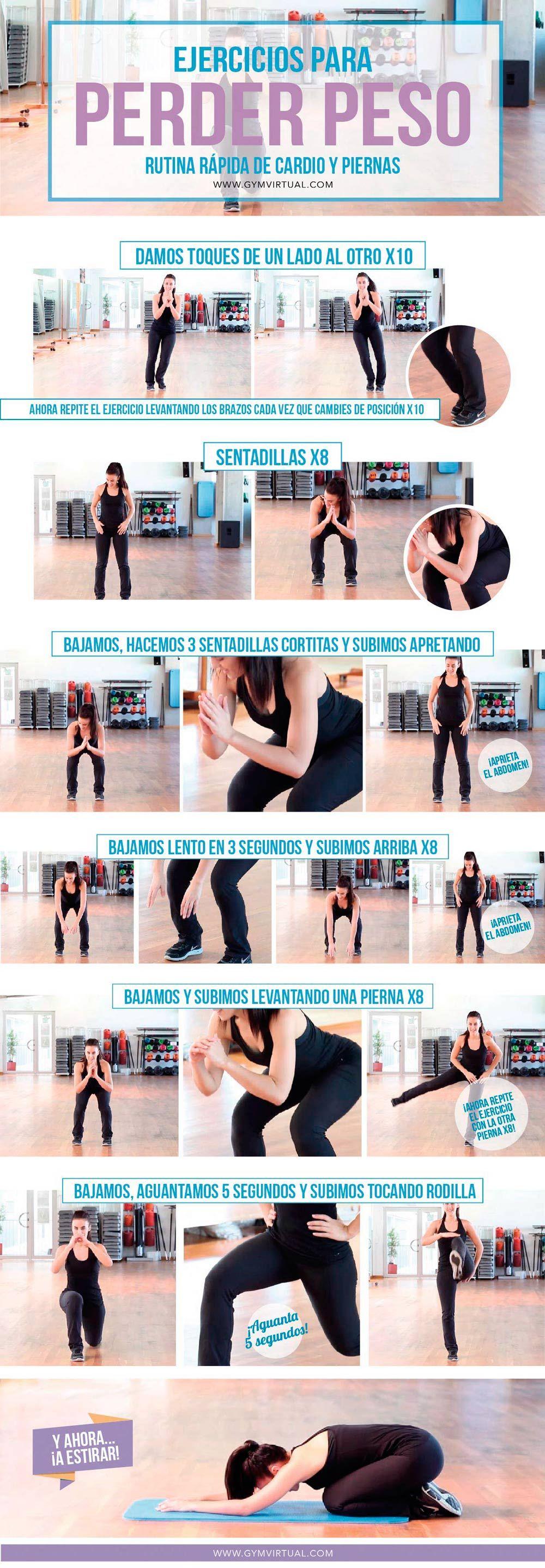 Rutina de ejercicios para bajar de peso en un gym