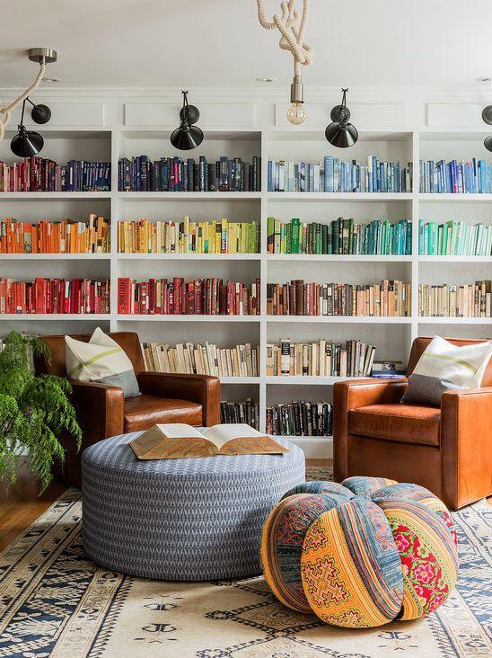 Libros por colores | Home | Pinterest | Libros, Color y Bibliotecas