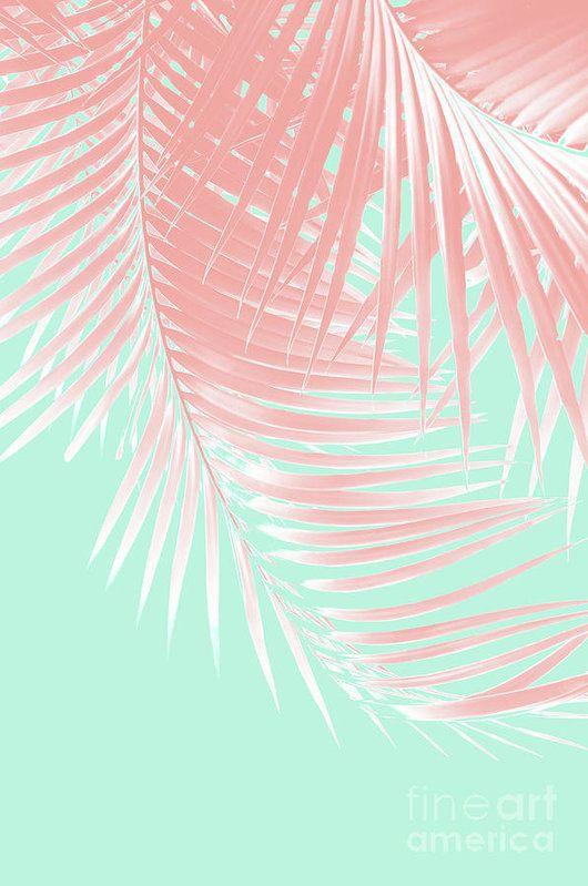 Palm Leaves Summer Vibes #9 #tropical #decor #art Art Print