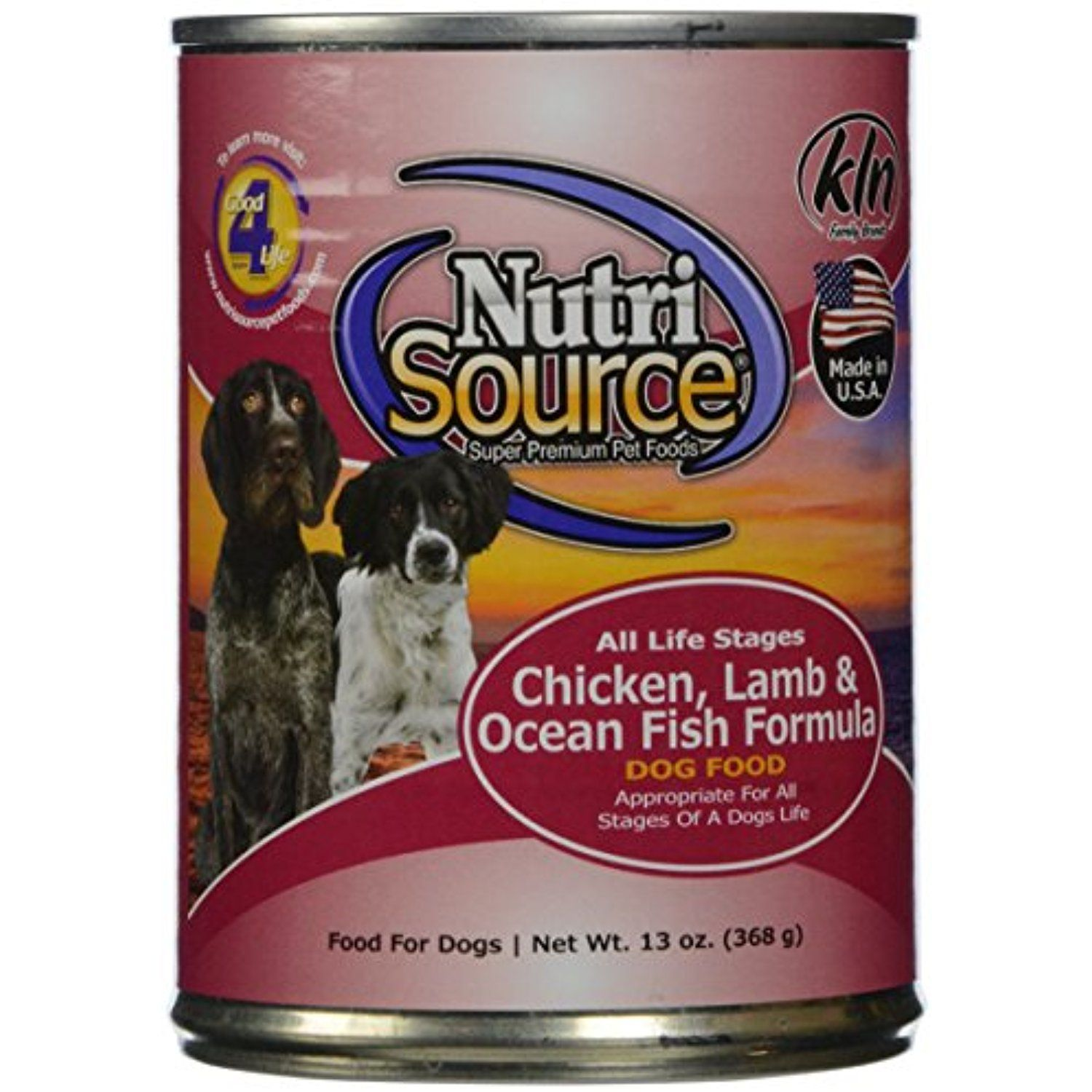 Nutrisource, Canned Dog Food, Chicken, Lamb & Fish, 13 oz