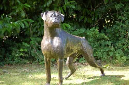 Bronze Resin On Order Dogs Artwork By Artist Marie Boxer Pair