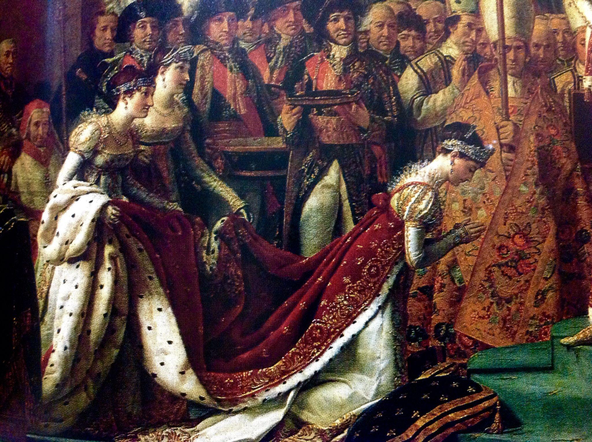 Fragmento -Coronación de Napoleon ,aquí Josefina con dos de sus cuñadas,parte de su cortejo que la acompaño.