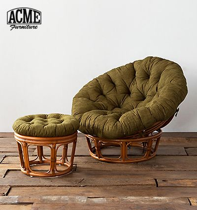 Acme アクメファニチャー Wicker Easy Chair Stool ウィッカー イージーチェア スツール ゆりかご 椅子 チェア アクメファニチャー