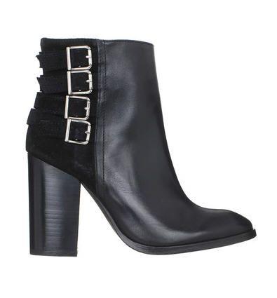 82aca3c8f71 Boots à talons cuir suède lisse boucles Brady Noir Ikks women pour femme  prix Boots Monshowroom 255.00 €