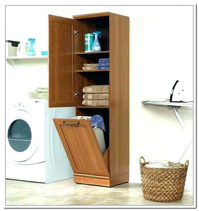 Laundry Hamper Cabinet Bathroom Cabinets With Baskets Storage Full Size Of Basket Ideas Narrow