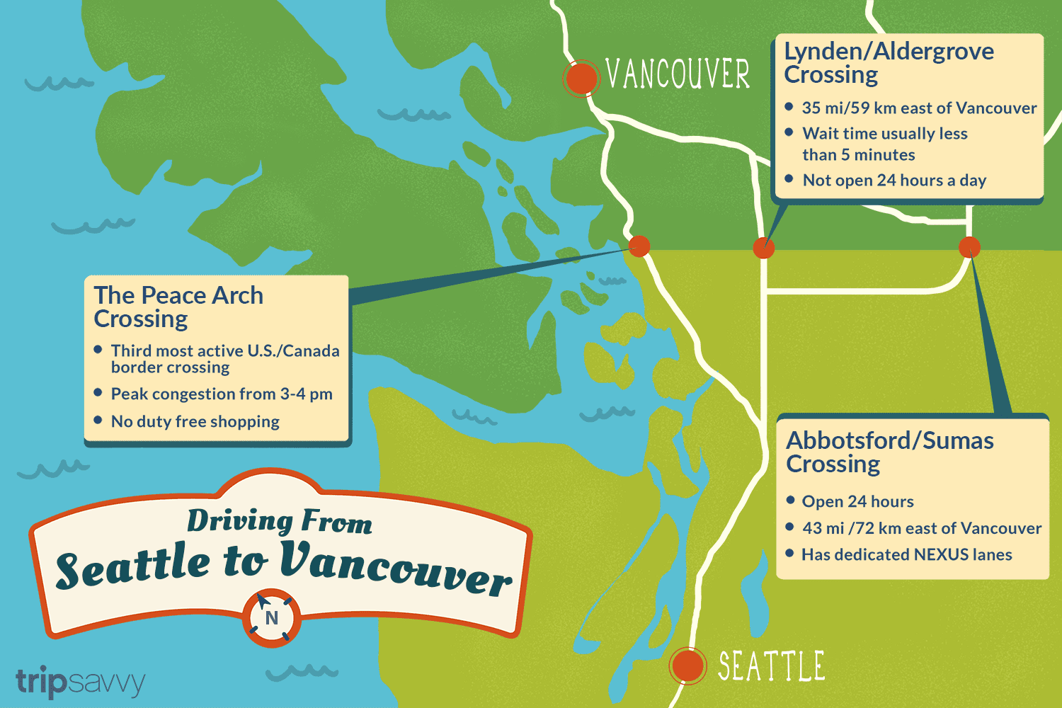 Crossing The Border From Seattle To Vancouver Vancouver Vancouver Canadians Vancouver Washington