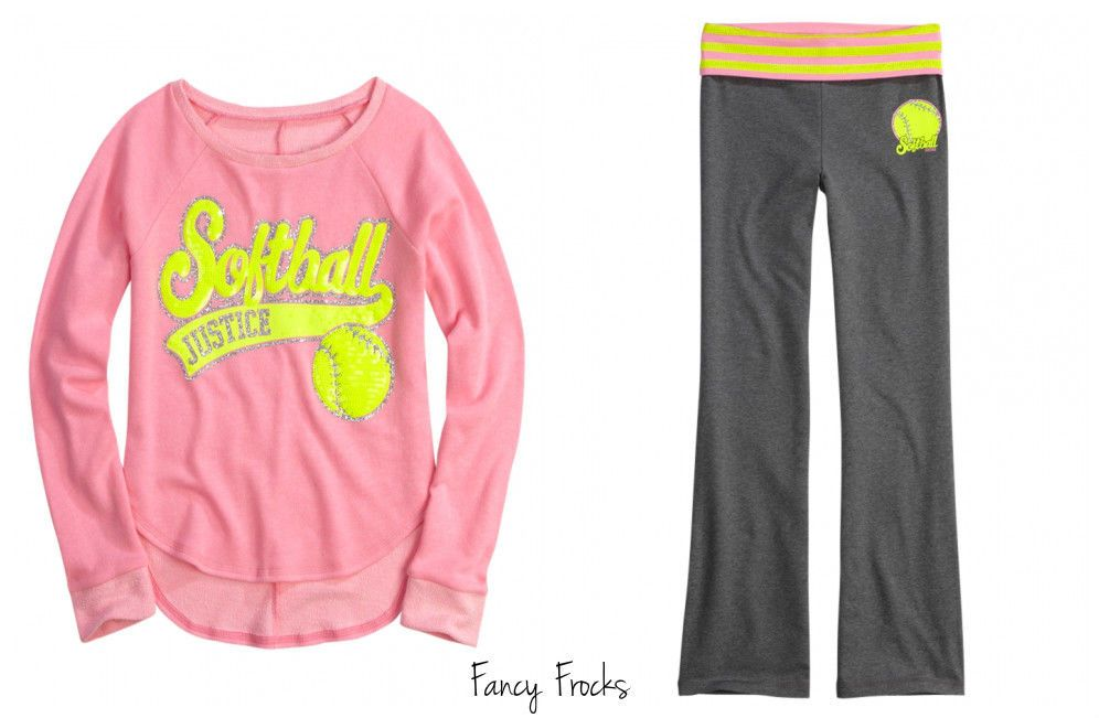 NWT JUSTICE Girls Softball active set Outfit size 6//7 8 10 12 14//16