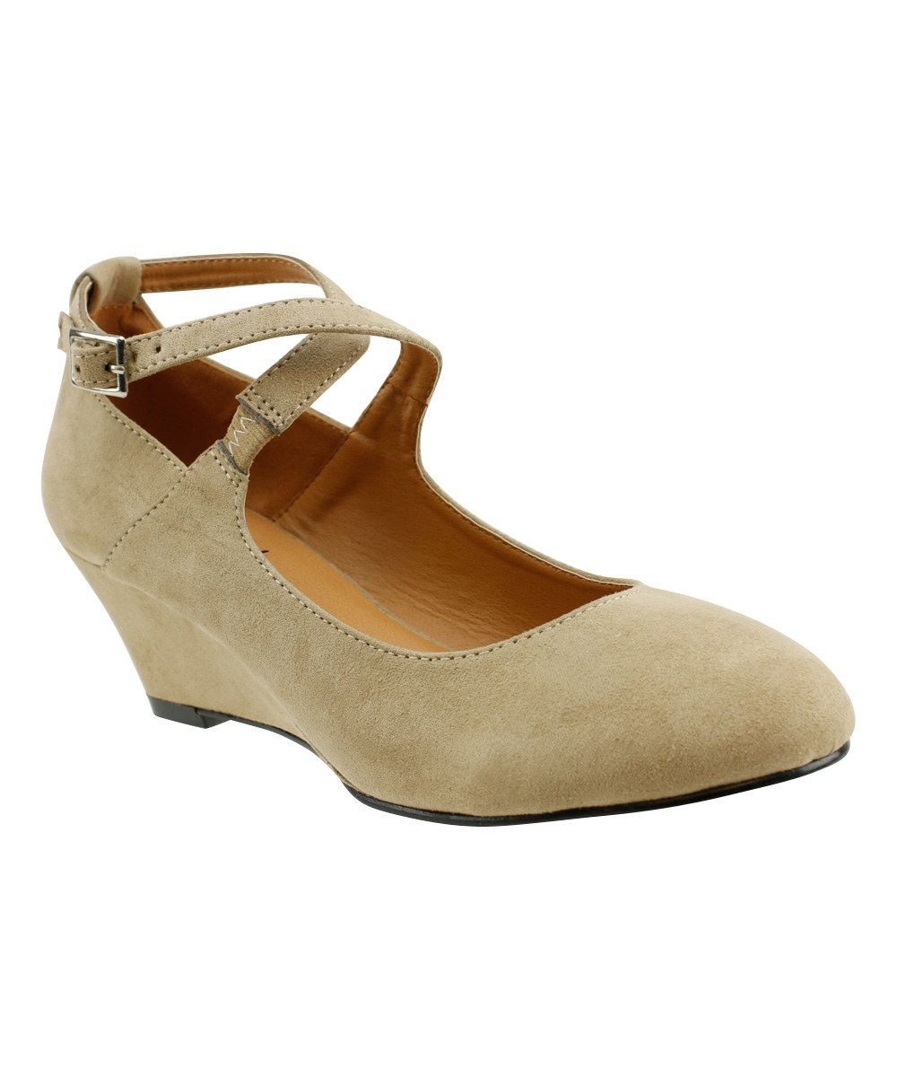 Look at this Red Circle Footwear Tan Fifi Pump on #zulily today!