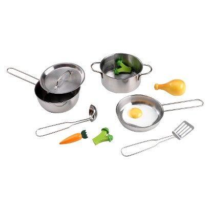 Kidkraft Metal Kitchen Cookware And Accessories Brinquedos De
