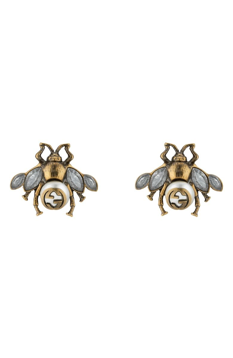 802541874975d Free shipping and returns on Gucci Bee Stud Earrings at Nordstrom ...