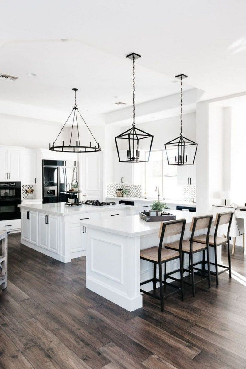 81 Adorable White Kitchen Design Ideas 44 With Images Modern Farmhouse Kitchens Home Decor Kitchen White Kitchen Design