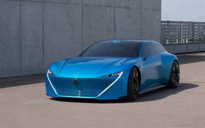 Download wallpapers Peugeot Instinct, 4k, 2018 cars, concept cars ...