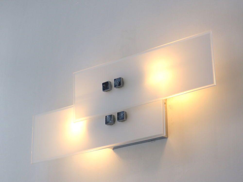 Lampada parete applique design moderno illuminazione interni bagno