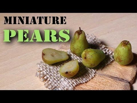 ▶ Quick/Easy; Miniature Pears - Polymer Clay Tutorial - YouTube