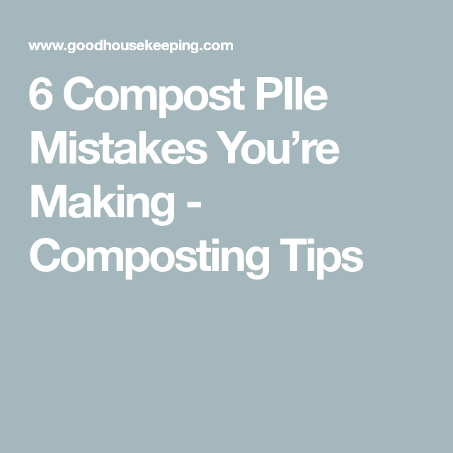 6 Compost PIle Mistakes Youre Making  Composting Tips Commercial gardeners already have their hands full in April Because this month is diligently sown and planted and th...