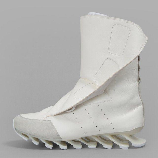 Fancy Rick Owens x Adidas Adidas Adidas Blanco Primavera Blade High Sneakers 1773a5