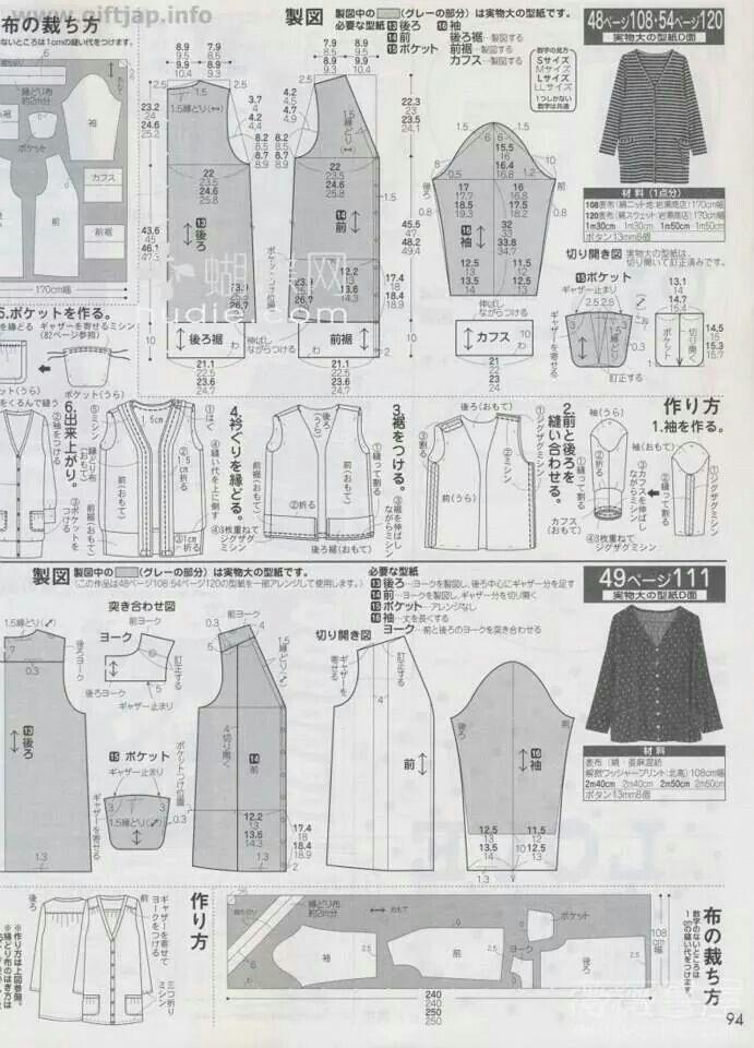 Pin de 지현 전 en 자켓 | Pinterest | Costura, Moldes y Ropa