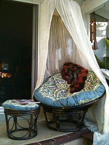 papasan outdoor lounge chair