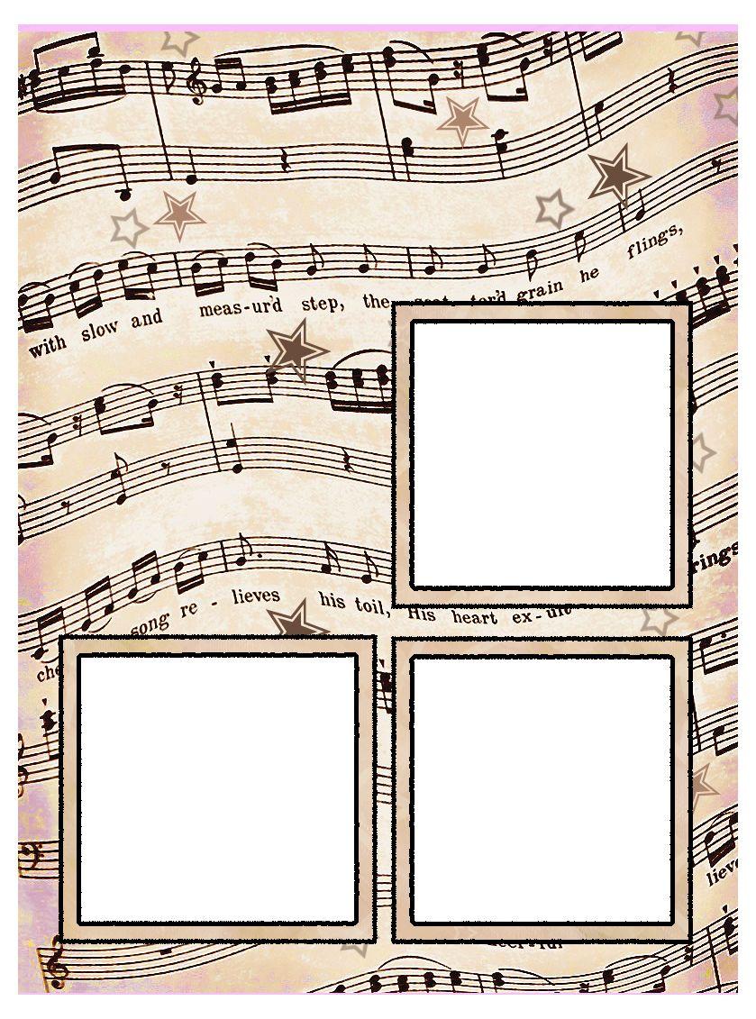 Free printable artbyjean vintage sheet music - Scrapbook background free printables ...