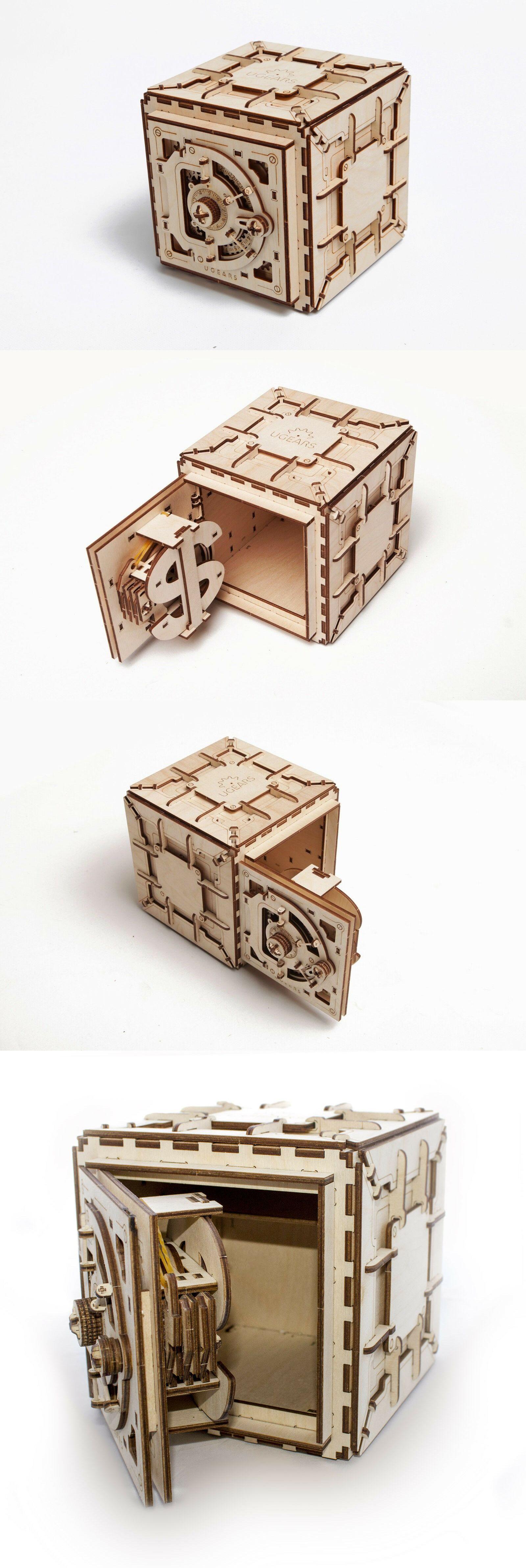 Wooden 2595 Ugears Safe 3d Wooden Mechanical Model 179 Pieces