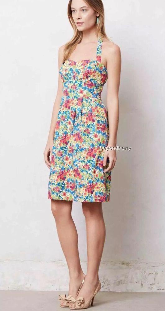 6d5f960a5f8d Anthropologie Girls From Savoy Size 8 Floral Garden Party Halter Dress |  eBay