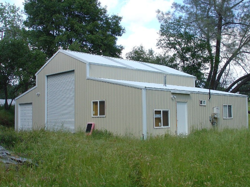 Barns pacific steel buildings shop pinterest steel for Metal buildings with living quarters plans