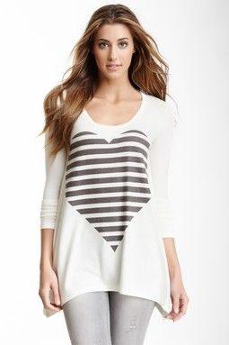 Go Couture Long Sleeve Scoop Neck Sweater
